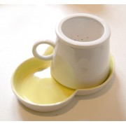 Porcelain Tea Strainer Set - Yellow